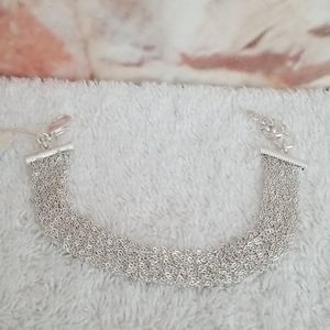 New Lucky Brand Woven Chain Flex Bracelet